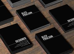 Black Business Card Design 005 via Creative Market