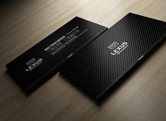 Carbon Business Card via Creative Market