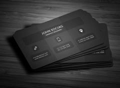 Stylish Dark Black Business Card via Creative Market