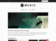 Minimal Music Theme by Shopify