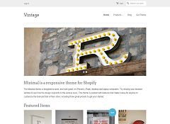 Minimal Vintage Theme by Shopify