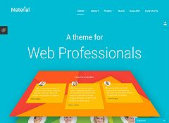 Material Joomla Template by TemplateMonster