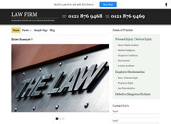 Law Firm WordPress Theme by BizzThemes