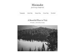 Minimalist Genesis Child Theme for WordPress by Brian Gardner