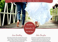 My Wedding WordPress Theme via Creative Market