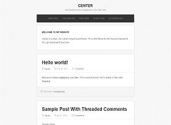 Center Genesis Child Theme for WordPress by MagikPress
