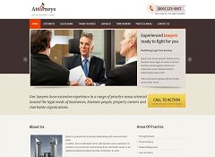 Attorneys WordPress Theme via Mojo Themes