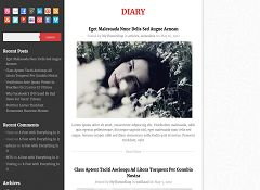 Diary WordPress Theme by MyThemeShop