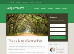 Going Green Pro Genesis Child Theme for WordPress by StudioPress