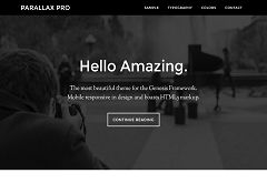 Parallax Pro Genesis Child Theme for WordPress by StudioPress