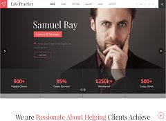 Law Practice WordPress Theme via ThemeForest