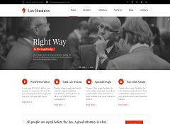 LawBusiness WordPress Theme via ThemeForest