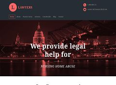 Lawyers WordPress Theme via ThemeForest