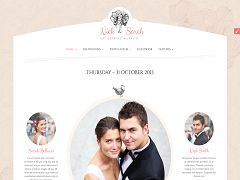 Wedding Day WordPress Theme via ThemeForest