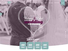 Wedding Fuchsia WordPress Theme via ThemeForest