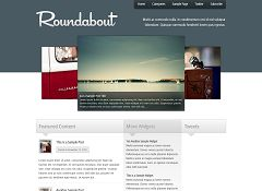 Roundabout WordPress Theme by Press75