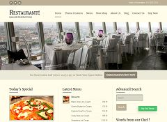 Restaurante WordPress Theme by Templatic