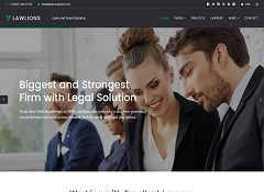 Law Lions WordPress Theme via ThemeForest