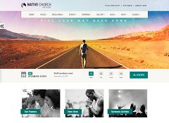 NativeChurch WordPress Theme via ThemeForest