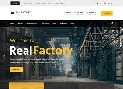 Real Factory WordPress Theme via ThemeForest