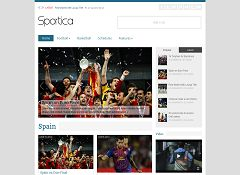 Sportica WordPress Theme via ThemeForest
