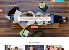 UniLearn WordPress Theme via ThemeForest