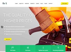 FixIt Construction WordPress Theme via ThemeForest
