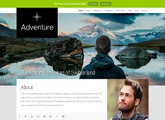 Adventure WordPress Theme via Creative Market
