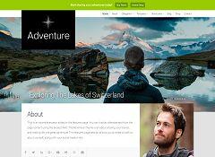 Adventure WordPress Theme via Creative Market