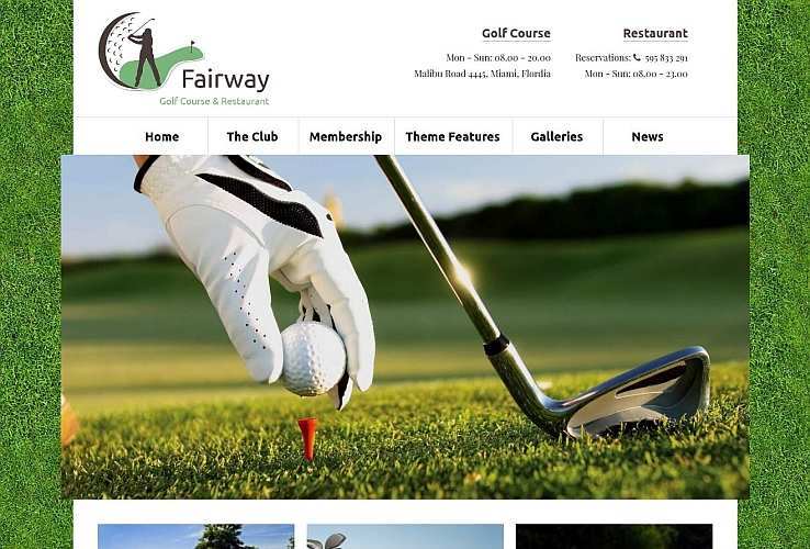 Fairway WordPress Theme by 7Theme