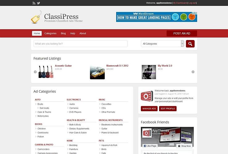 ClassiPress WordPress Theme by AppThemes