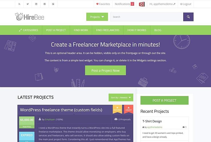 Hirebee WordPress Theme by AppThemes