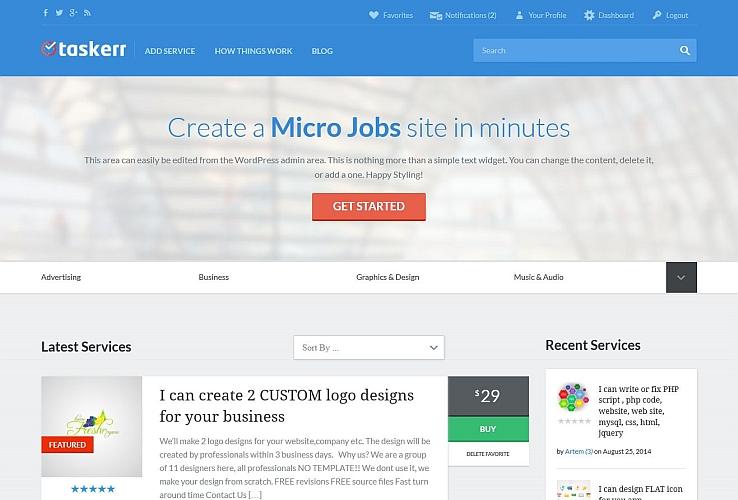 Taskerr WordPress Theme by AppThemes