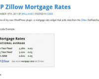 Mortgage Rates Widget from Code Canyon
