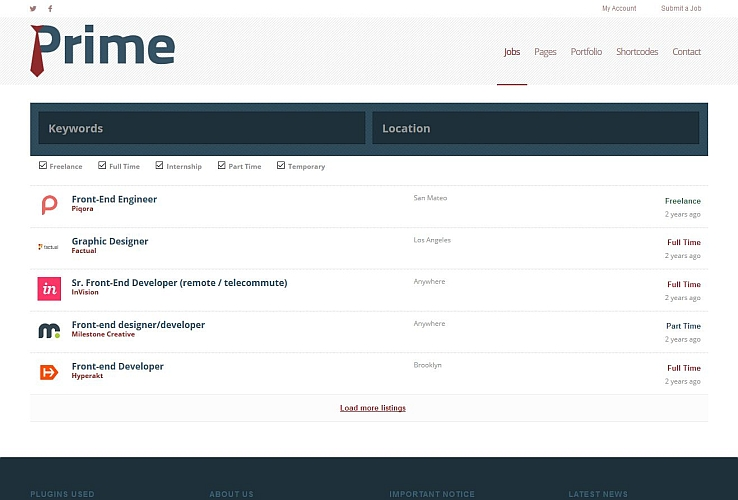Prime WordPress Theme via Creative Market