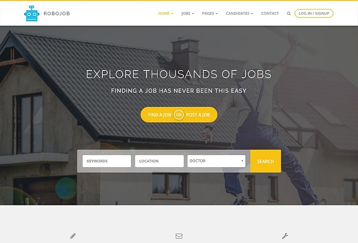 Robojob WordPress Theme via Creative Market