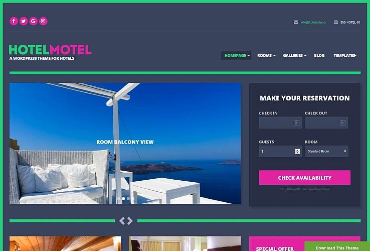 HotelMotel WordPress Theme by cssigniter