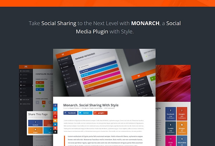 Monarch Social Sharing WordPress Plugin by Elegant Themes