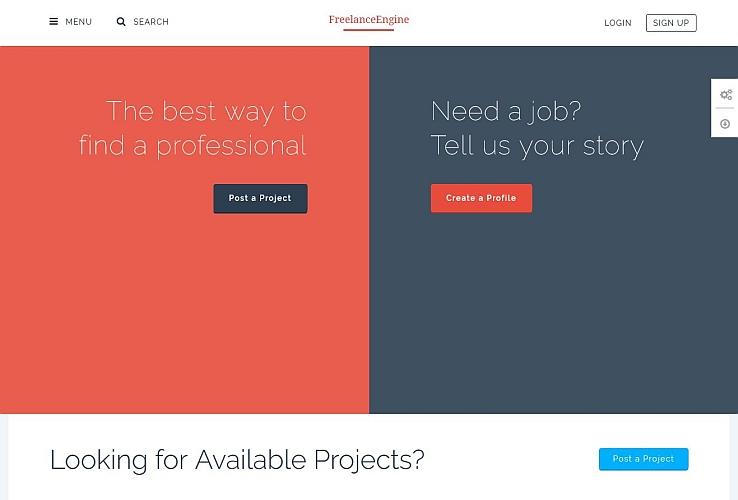 FreelanceEngine WordPress Theme by EngineThemes