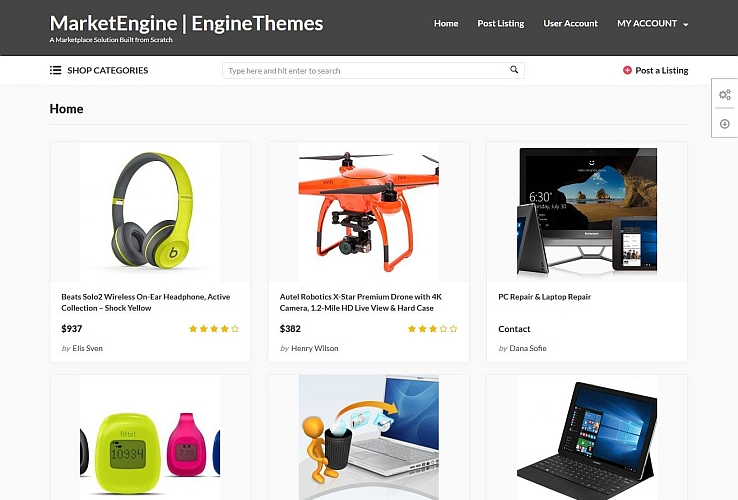 MarketEngine WordPress Theme by EngineThemes