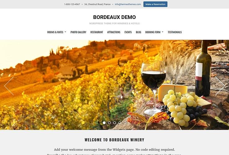 Bordeaux WordPress Theme by Hermes Themes