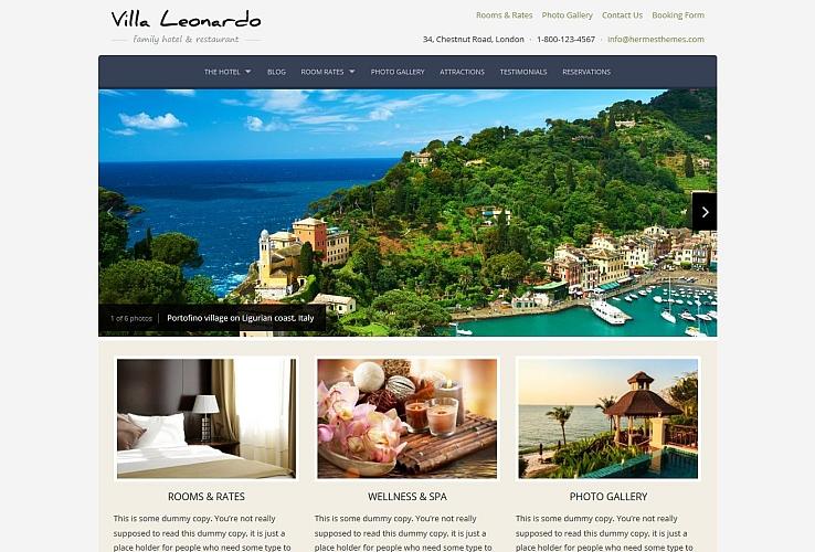 Leonardo WordPress Theme by Hermes Themes