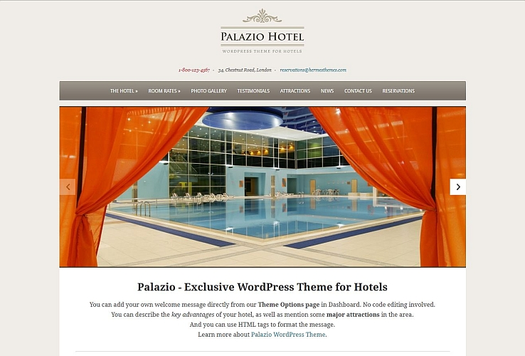 Palazio WordPress Theme by Hermes Themes