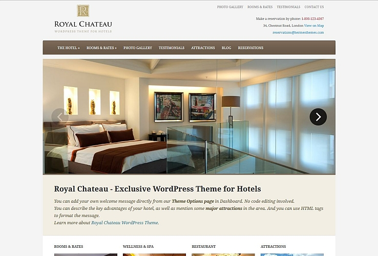 Royal Chateau WordPress Theme by Hermes Themes