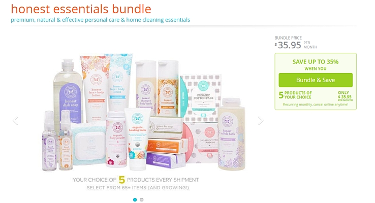 Some businesses like The Honest Co. have had huge success with bundling their products together.