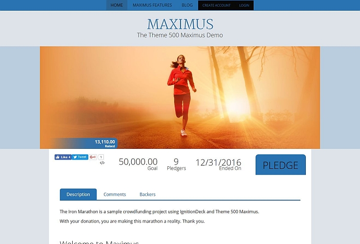 Maximus WordPress Theme by IgnitionDeck
