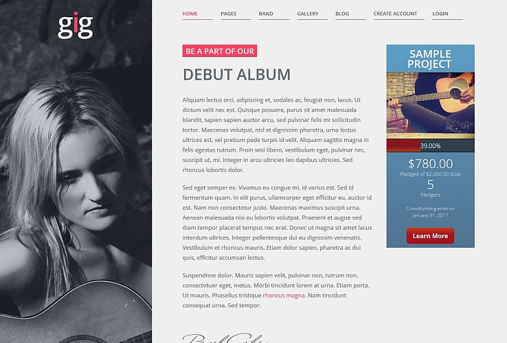 Gig WordPress Theme by IgnitionDeck