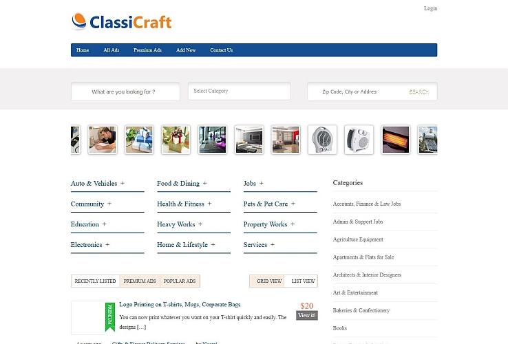 ClassiCraft WordPress Theme by InkThemes