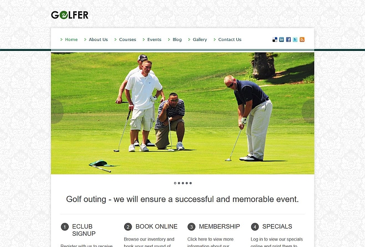 Golfer WordPress Theme by InkThemes