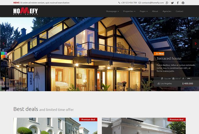 Homefy HTML Website Template via Mojo Marketplace